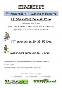 Rando VTT Miraumont 2014